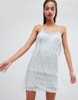 ASOS DESIGN Sequin Fringe Mini Dress