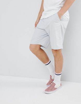 Image 1 of ASOS DESIGN Skater Chino Shorts In Ice Gray
