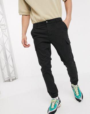 Jack & Jones Premium smart trousers in check with drawstring - ASOS Price Checker