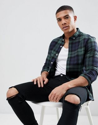 ASOS DESIGN skinny check shirt