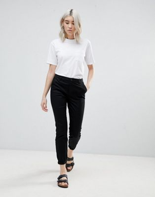 ASOS DESIGN skinny chino trousers with roll up