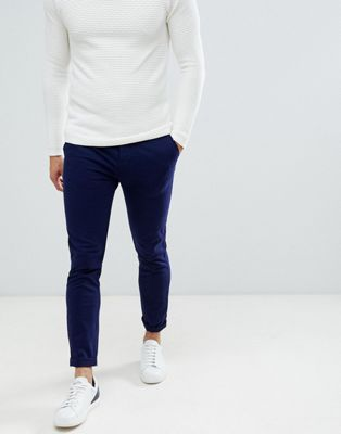 ASOS DESIGN skinny chinos in deep blue