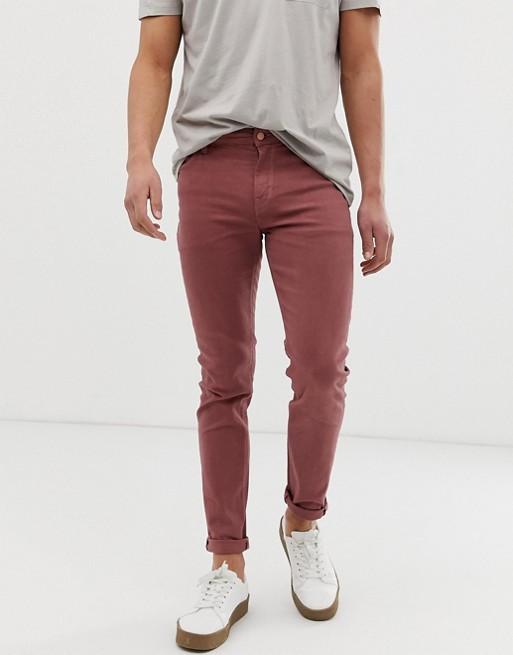 ASOS DESIGN skinny jeans in dusky pink