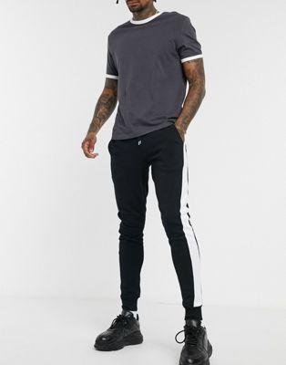Afbeelding 1 van ASOS DESIGN - Skinny joggingbroek met streep aan de zijkant