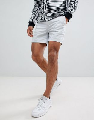 ASOS DESIGN Skinny Shorter Shorts In Ice Gray