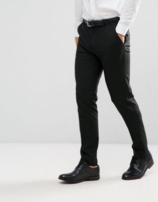 ASOS DESIGN skinny suit pants in black