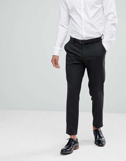 ASOS DESIGN skinny suit pants in charcoal