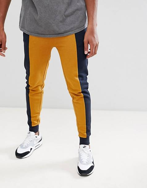 ASOS DESIGN skinny sweatpants with color blocking