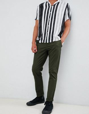 ASOS DESIGN slim chinos in dark khaki