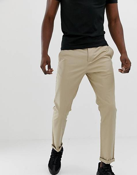 ASOS DESIGN slim chinos in putty