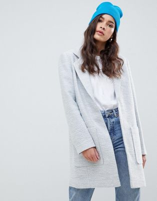 ASOS DESIGN slim coat in texture