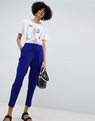 Image 1 of ASOS DESIGN slim cobalt trousers
