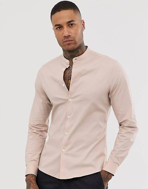 Overhemd Zonder Kraag.Overhemden Zonder Kraag Overhemden Zonder Kraag Voor Heren Asos