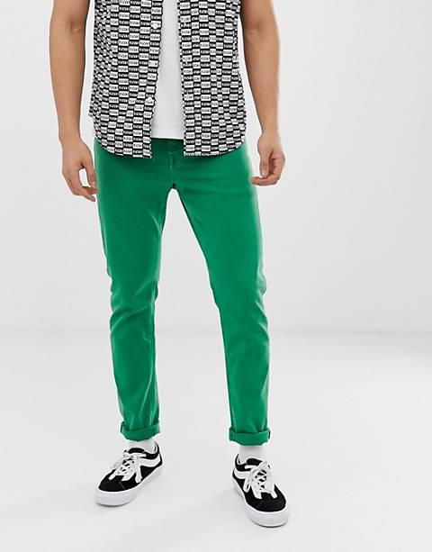 ASOS DESIGN slim jeans in bright green