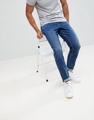 Image 1 of ASOS DESIGN slim jeans in dark wash