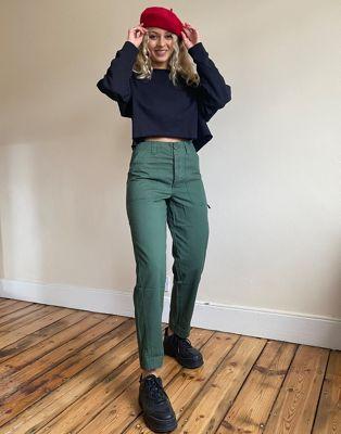 ASOS DESIGN slim leg combat pants in khaki