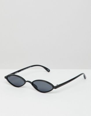 ASOS DESIGN slim oval sunglasses