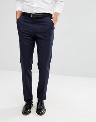 ASOS DESIGN slim smart pants in navy
