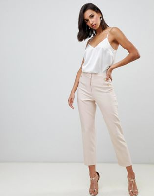 ASOS DESIGN slim trousers with button pocket detail