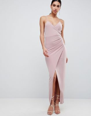 Image 1 of ASOS DESIGN slinky drape maxi dress