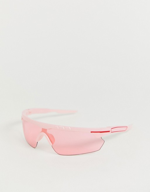 Image 1 of ASOS DESIGN small wrap visor sunglasses