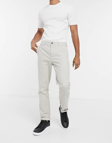 ASOS DESIGN - Smalle chinos i beige