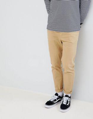 ASOS DESIGN - Smaltoelopende jeans in beige