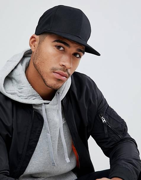 ASOS DESIGN snapback cap in black 73bfc4bdbd4
