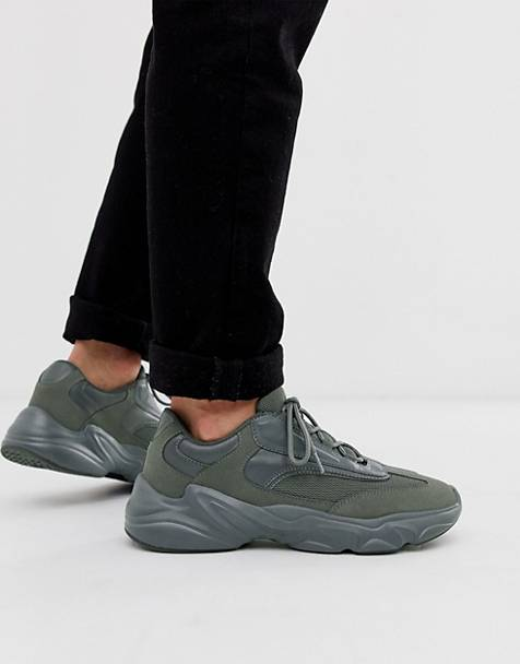 ASOS DESIGN sneakers in gray with chunky sole