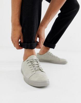 ASOS DESIGN sneakers in grey with toe cap