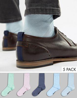 Image 1 of ASOS DESIGN socks in pastels 5 pack