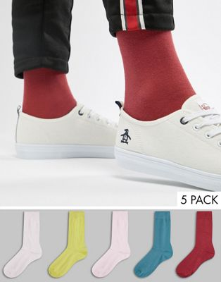 ASOS DESIGN Socks Retro Colours 5 Pack Save
