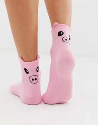 Afbeelding 1 van ASOS DESIGN - Sokken met varken
