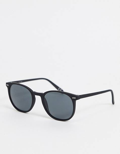 ASOS DESIGN square sunglasses in matte black with smoke lens