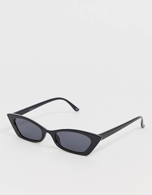 ASOS DESIGN squared off narrow cat eye sunglasses