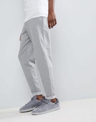 Image 1 of ASOS DESIGN Standard sweatpants With Turn Up Hem In Gray Marl