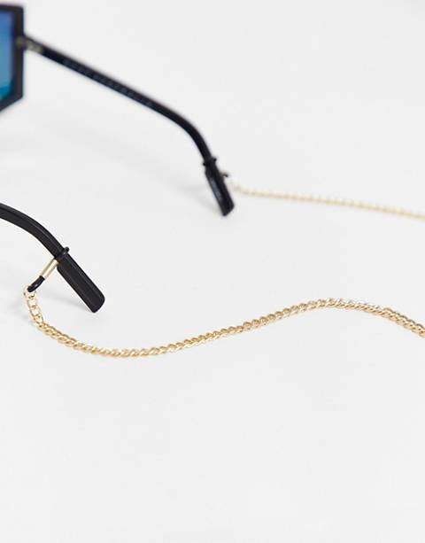 ASOS DESIGN sunglasses chain in gold tone