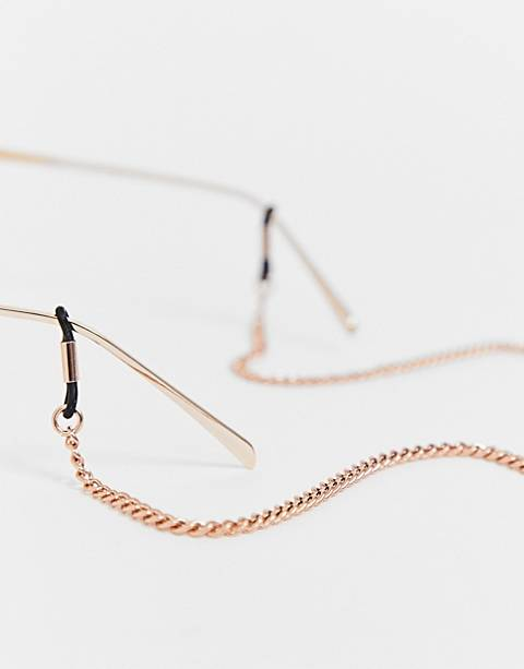 ASOS DESIGN sunglasses chain in rose gold tone