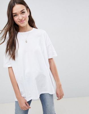 ASOS DESIGN super oversized t-shirt with drop shoulder in white