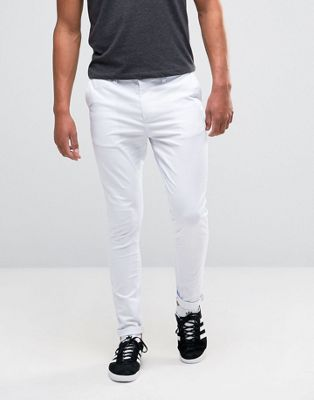 ASOS DESIGN super skinny chinos in white