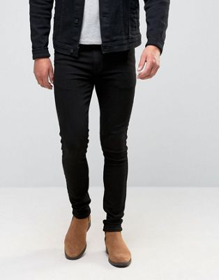 ASOS DESIGN super skinny jeans in black