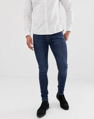 Image 1 of ASOS DESIGN super skinny jeans in dark wash