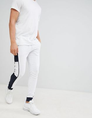 Image 1 of ASOS DESIGN super skinny joggers with side stripe
