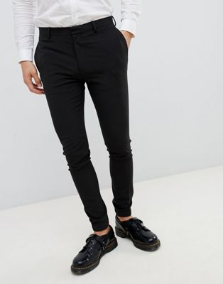 ASOS DESIGN super skinny smart joggers in black
