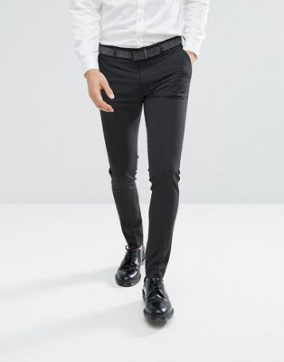 ASOS DESIGN super skinny smart pants in charcoal