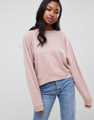 ASOS DESIGN super soft batwing sweatshirt in mink