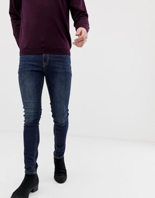 Afbeelding 1 van ASOS DESIGN - Superskinny jeans in dark wash