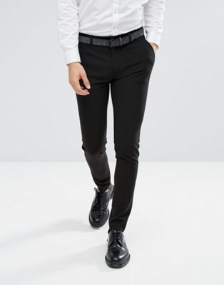 ASOS DESIGN - Superskinny nette broek in zwart