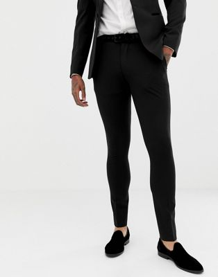 ASOS Design - Superskinny smoking pantalon in zwart