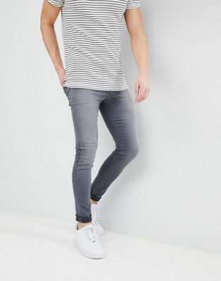 ASOS DESIGN - Superstrakke jeans in  grijze wassing